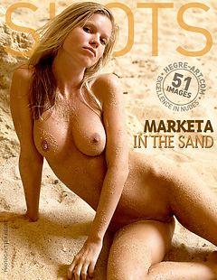 Marketa in the sand