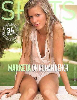 Marketa on roman bench