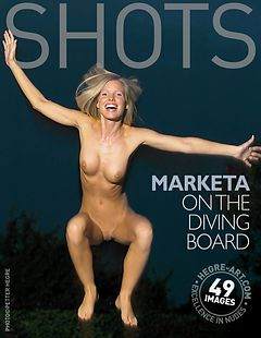 Marketa auf dem Sprungbrett