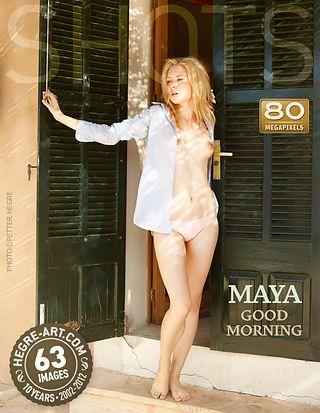 Maya good morning