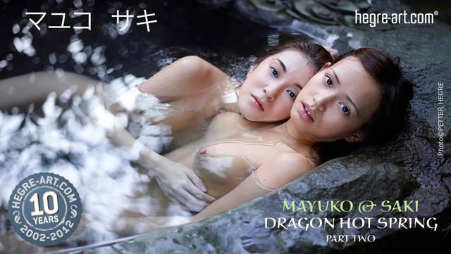 Mayuko y Saki fuente termal del dragón parte 2