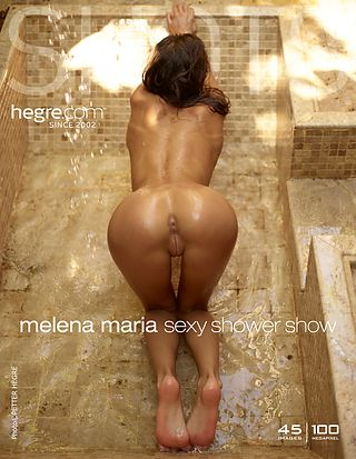 Melena Maria sexy shower show