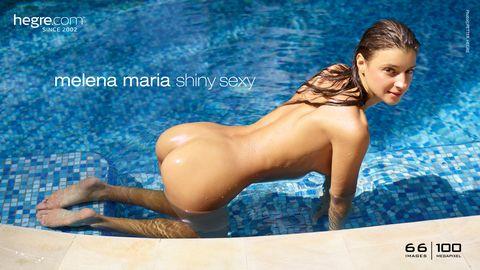 Melena Maria shiny sexy