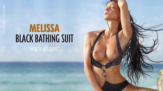 Melissa black bathing suit