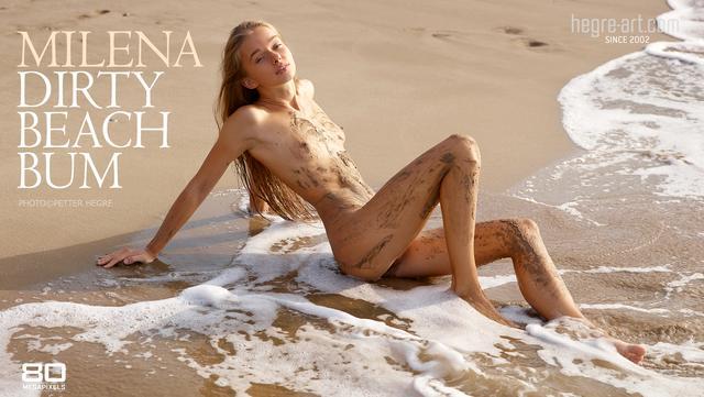 Milena clocharde de plage