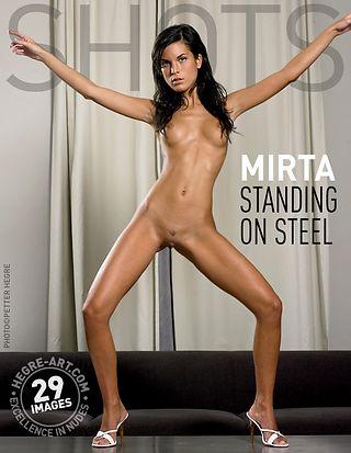 Mirta standing on steel