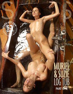 Muriel and Suzie log tub part 1