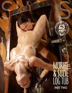 Muriel et Suzie baignoire en bois Partie 2