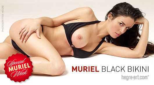 Muriel Black bikini