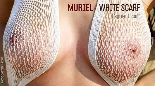 Muriel white scarf