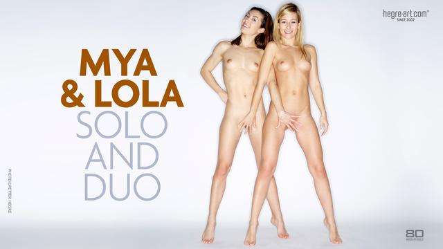 Mya and Lola solo and duo