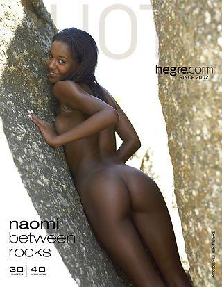 Naomi between rocks