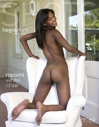 Naomi white chair