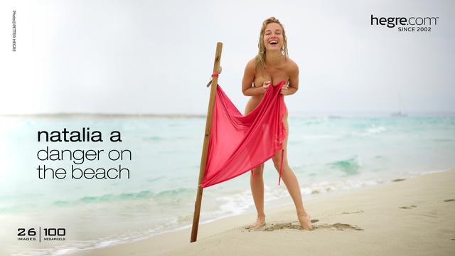 Natalia A danger sur la plage