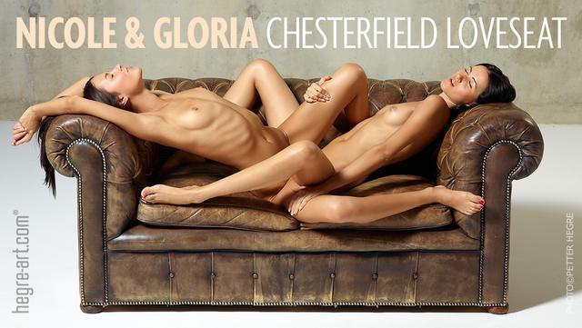 Nicole and Gloria Chesterfield loveseat