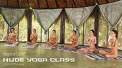 Nude yoga class