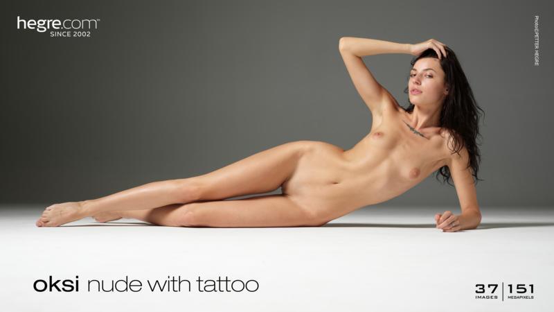 Oksi nude with tattoo
