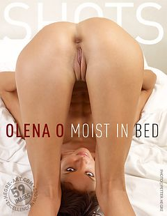 Olena O moist in bed