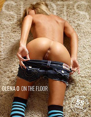 Olena O on the floor