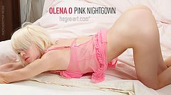 Olena O. pink nightgown