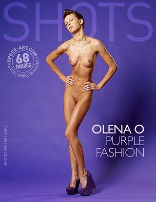 Olena O purple fashion