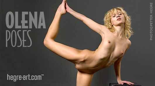 Olena poses
