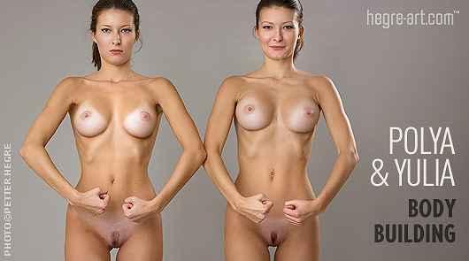 Polya and Yulia bodybuilding