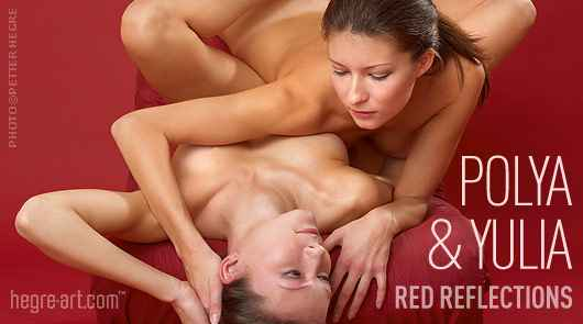 Polya And Yulia red reflections