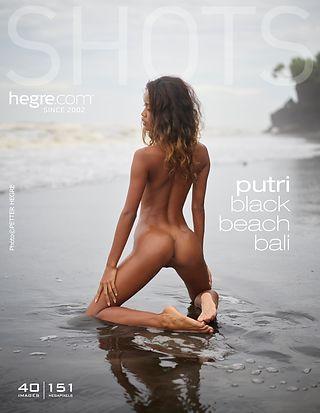 Putri Schwarzer Strand Bali