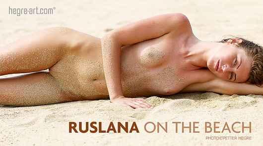 Ruslana am Strand
