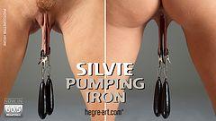 Silvie pumping iron