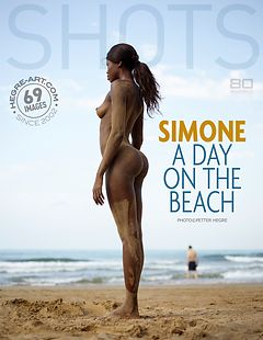 Simone un jour à la plage