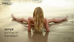 Sonya sunrise on the beach