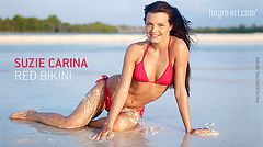 Suzie Carina red bikini