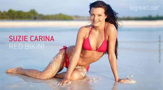 Suzie Carina bikini rouge