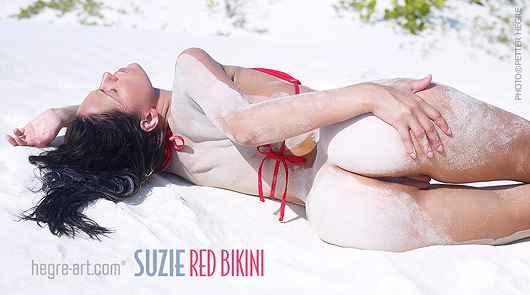 Suzie red bikini