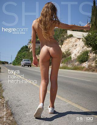 Taya Naked Hitch hiking