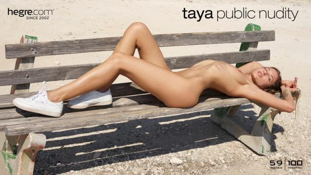 Taya nackt in der Öffentlichkeit
