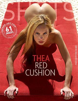 Thea red cushion