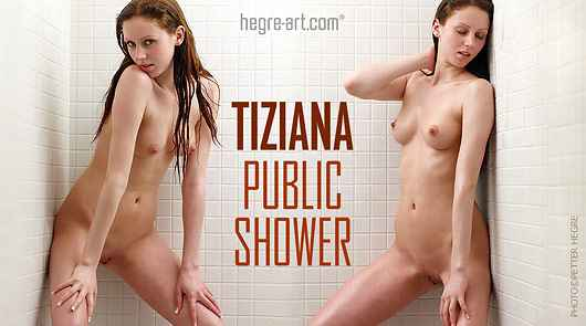 Tiziana public shower
