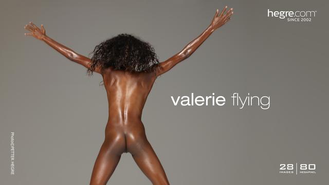 Valerie flying