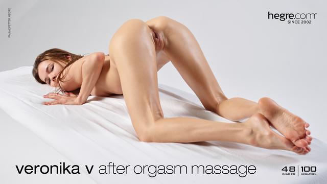 Veronika V massage après orgasme