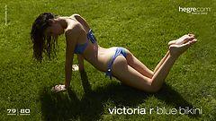 Victoria R bikini bleu