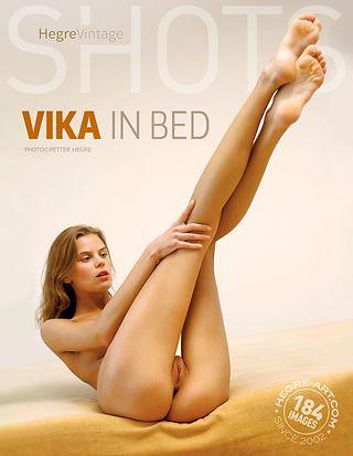 Vika in bed