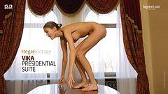 Vika in presidential suite