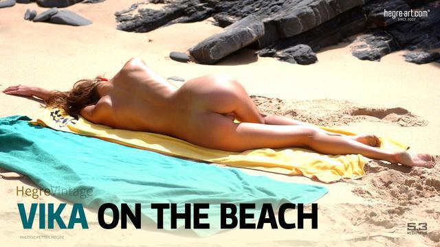 Vika am Strand