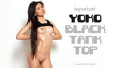 Yoko black tank top
