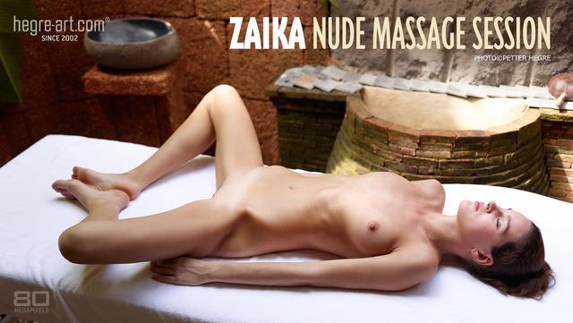 Zaika nude massage session