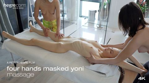 Four Hands Masked Yoni Massage