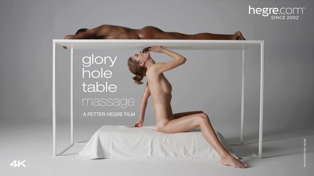 Glory Hole-Tischmassage